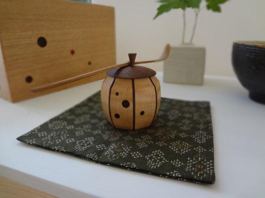 八角縞茶器/メープル/八ヶ岳の家具工房ZEROSSOの茶道具