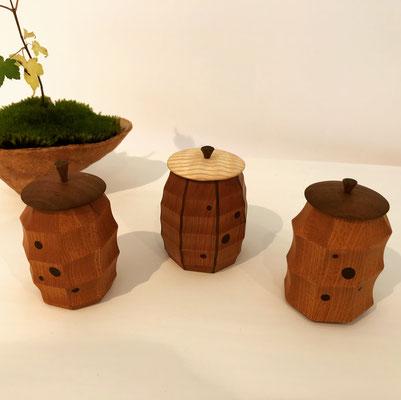 八角形の茶器たち/八ヶ岳の家具工房ZEROSSOの茶道具