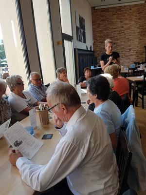 """Beim Abendessen im """"Brauhaus Goldener Engel"""" in Ingelheim"""