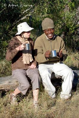 Pause café, Djuma - Afrique du Sud, mai 2010