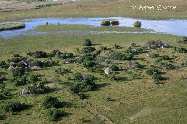 Survol du Shoebill camp - Marais de Bangweulu, Zambie mai 2006