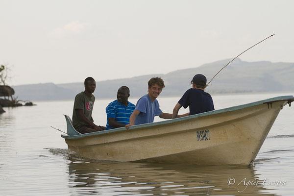 Départ pour la pêche à Baringo - Kenya été 2016