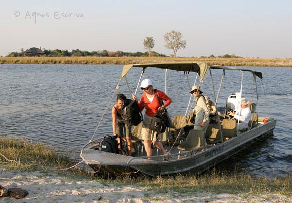 Bateau à Chobe - Botswana août 2007