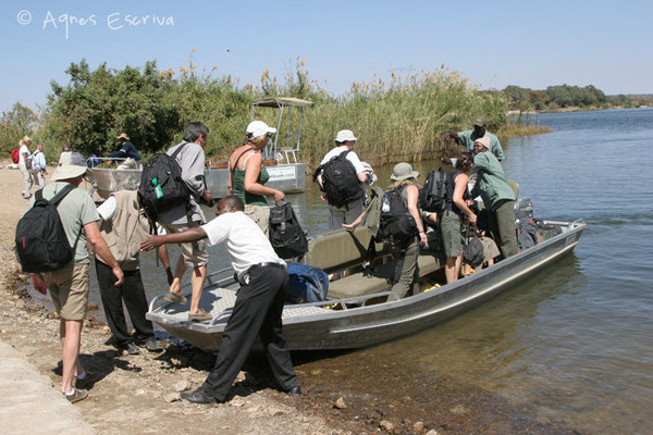 Passage de Zambie au Botswana - août 2007
