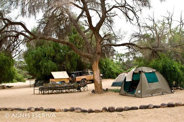 Campement dans le Damaraland, Namibie - août 2008