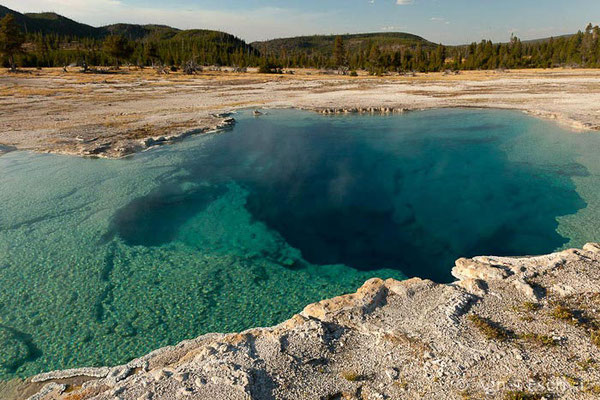 Sapphire pool, Biscuit Basin, Parc du Yellowstone