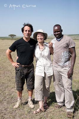 Avec Tony et Simon - Masaï Mara, Kenya - février 2011