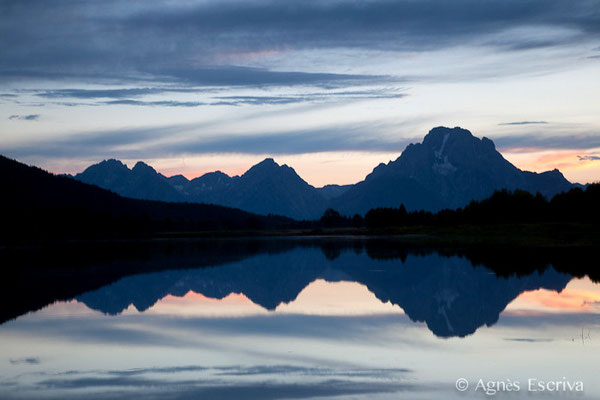 Coucher de soleil à Oxbow Bend à Grand Teton National Park