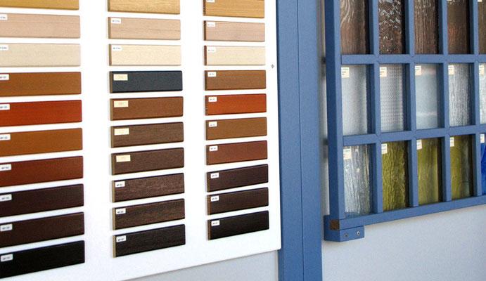 Farben- und Glaspalette