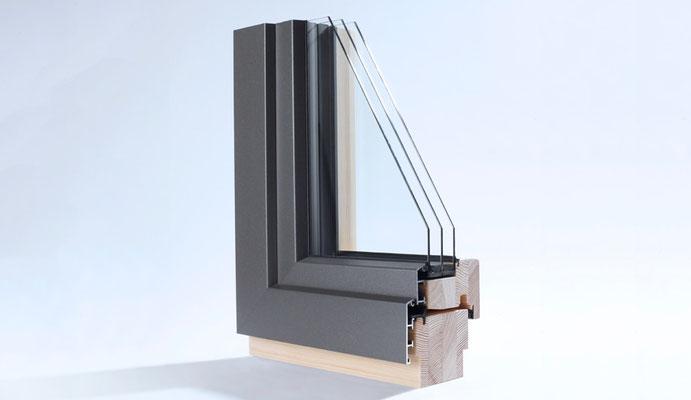 Holz-Alu-Fenster im Profil