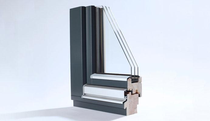 Holz-Fenster im Profil