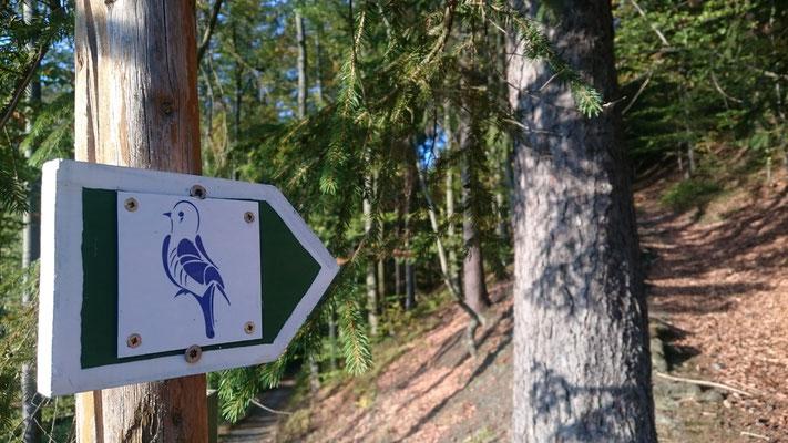 Der Blaue Vogel der Porzellanfabrik Rauenstein als Signet