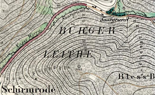 Messtischblatt 1856