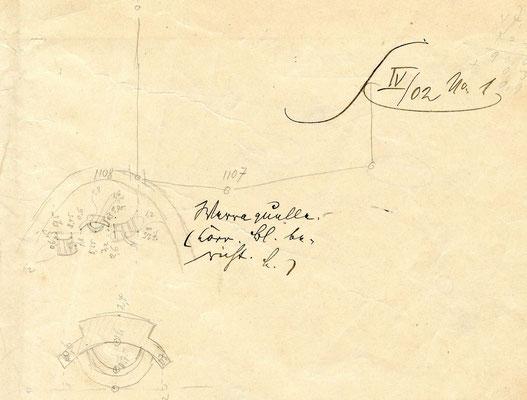 Werraquellfassung im Plan von 1902