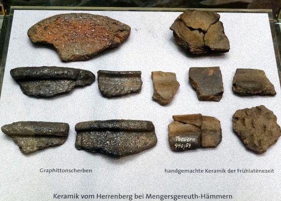 Scherben im Museum für Ur- und Frühgeschichte