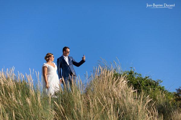Le selphie des mariés en Baie de Somme