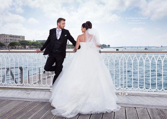 Mariage en Aquitaine : Séance couple de Charlène et Jérémy à Arcachon