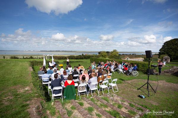 Cérémonie laïque au bord de la Baie de Somme - Hotel restarant Le Cap Hornu à Saint Valery sur Somme