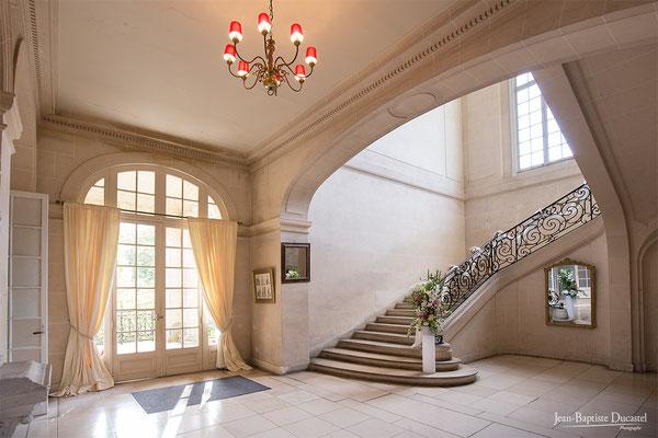 L'escalier du Château de Lésigny 77