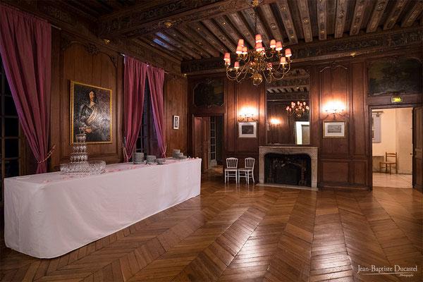 La salle de danse (et de dessert) du Château de Lésigny en Seine et Marne