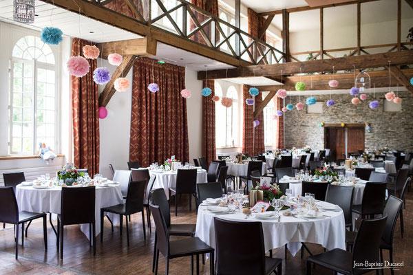 Salle de réception mariage du Manoir de la Jahotière en Loire Atlantique