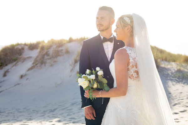 Shooting after wedding à Fort Mahon plage