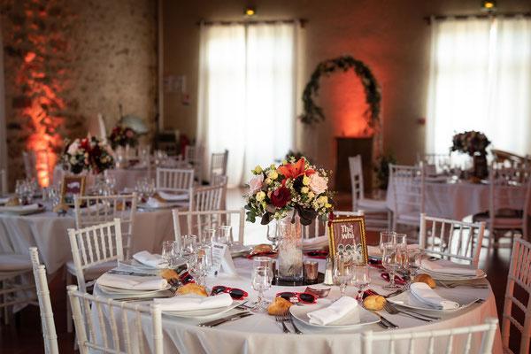Salle mariage Nomade Lodge 77 Seine et Marne - décoration floral O sens des Fleurs