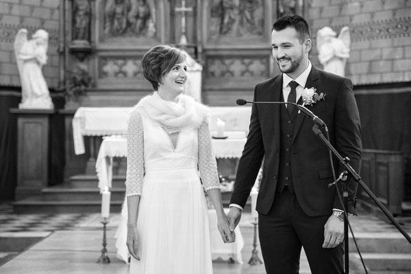 Mariage à l'église de Bernaville