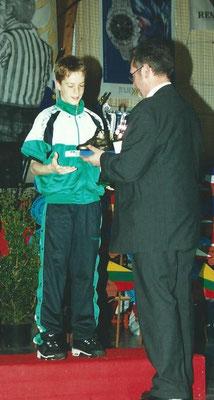 Meilleur Espoir 2001 : Clement Allerme (Calvados - France)
