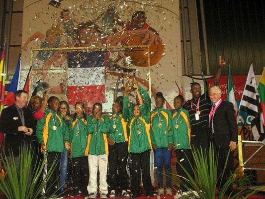 Une pluie de confettis pour la victoire de la Guadeloupe
