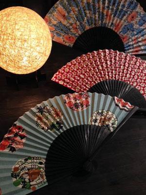 Japanischer Papierfächer bei Suzuki Shofudo in Kyoto