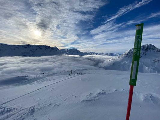 Die weiten Hänge der Corviglia - St. Moritz