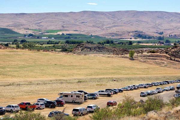 Ausweich-Parkplatz der Cowiche Creek Brewing, Yakima Valley