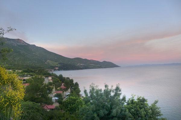 Abendblick vom Camping Nevio in Orebic