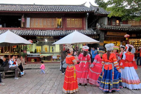 Lijiang Altstadt am zentralen Sifang Platz