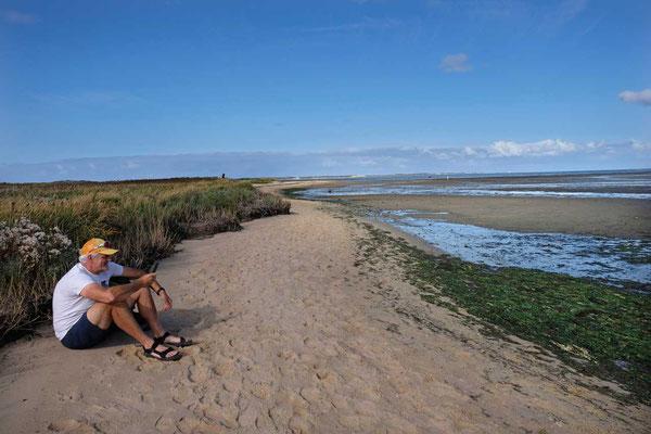 Einsames Wattenmeer bei Kampen Sylt
