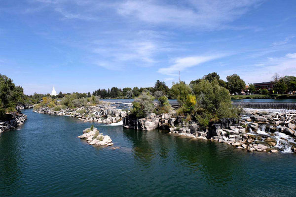 Idaho Falls am Snake River