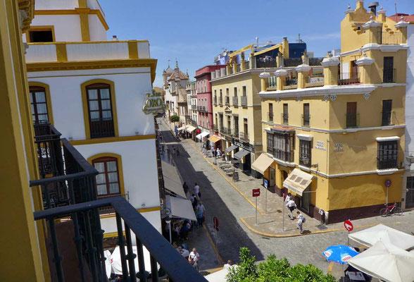 Ausblick vom Balkon, Hotel Puerto de Sevilla