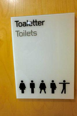 Stockholm WC Schild