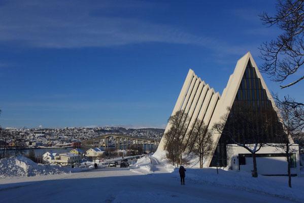 Die Eismeerkathedratle, Wahrzeichen der Stadt Tromsø