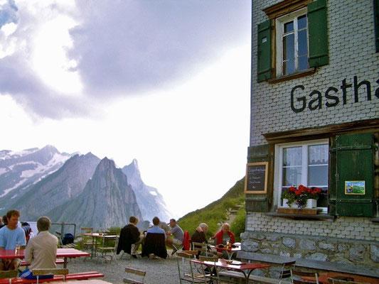 Säntis Blick vom Berggasthof Schäfler, Appenzeller Alpen