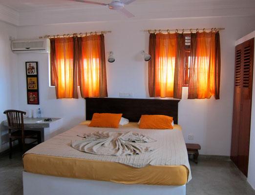 Unser Zimmer im Seagreen Guesthause Galle