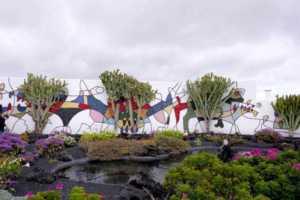 Fundación César Manrique Museum – Vulkanhaus Garten, Tahíche