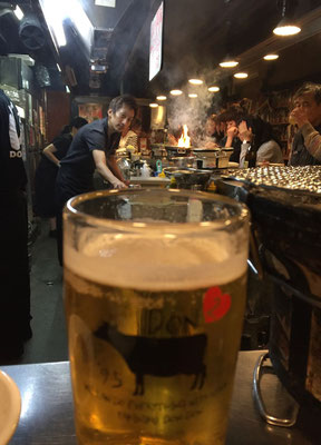 Japanisches Bier, Yakiniku restaurant Don Don Osaka