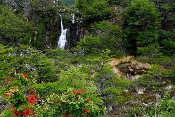Wasserfall Wanderung Lagunas Verde-Azul