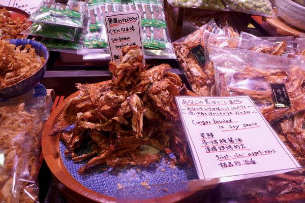 Exotisches auf dem Nishiki Lebensmittel Markt von Kyoto