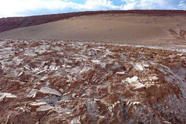 Gipskristalle im Valle de la Luna