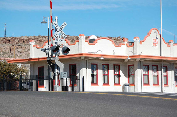 Train station von 1907 in Downtown Kingman