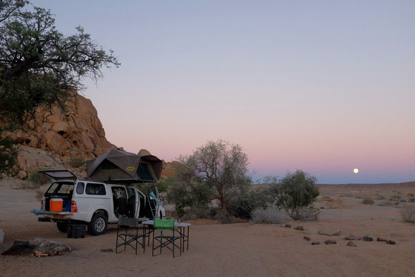 Campsite Blutkuppe Namibia