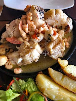 Seeaal Fischgericht im Mar Adentro in Coquimbo